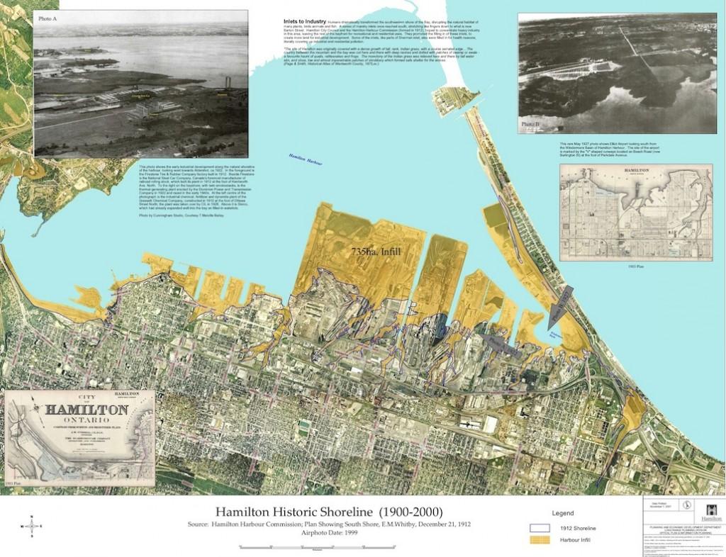 Hamilton Harbour Historic Shoreline Map